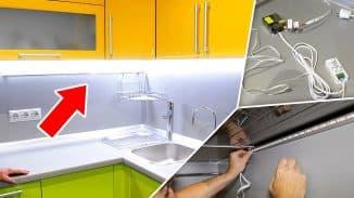 монтаж lsd подсветки на кухне