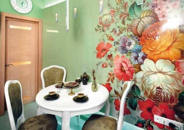 фотообои на стену на кухню в стиле арт декор