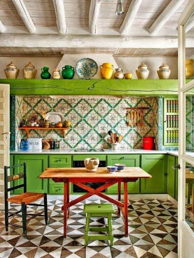 фотообои на стену на кухню в мексиканском стиле
