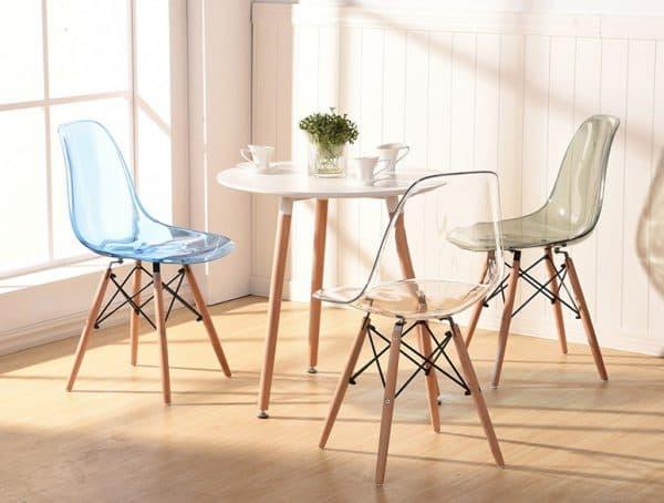ножки прозрачных стульев для кухни