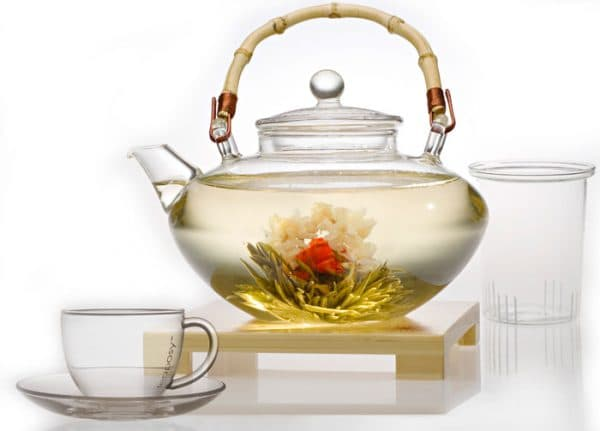пузатый заварочный чайник с подогревом