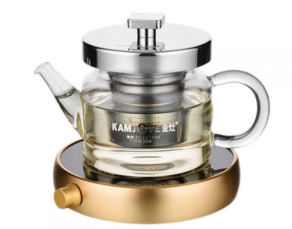 заварочный чайник с подогревом KAMJOVE