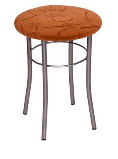 металлическая табуретки для кухни с мягким сиденьем