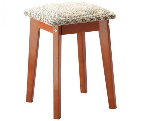 деревянная табуретки для кухни с мягким сиденьем