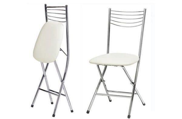 белые деревянные складные стулья для кухни