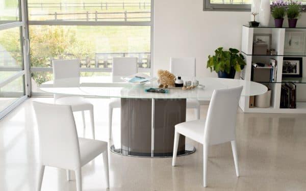 белые деревянные стулья для кухни Calligaris