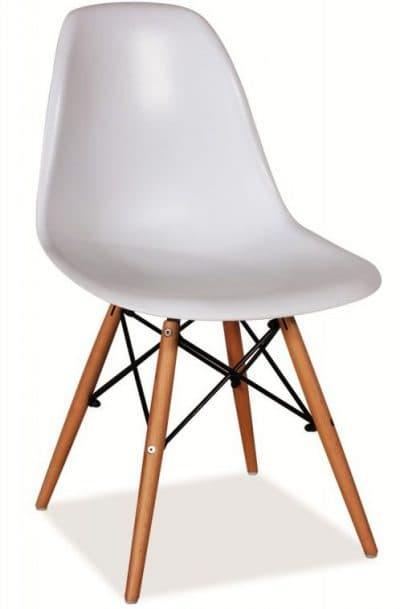 белые деревянные стулья для кухни Signal