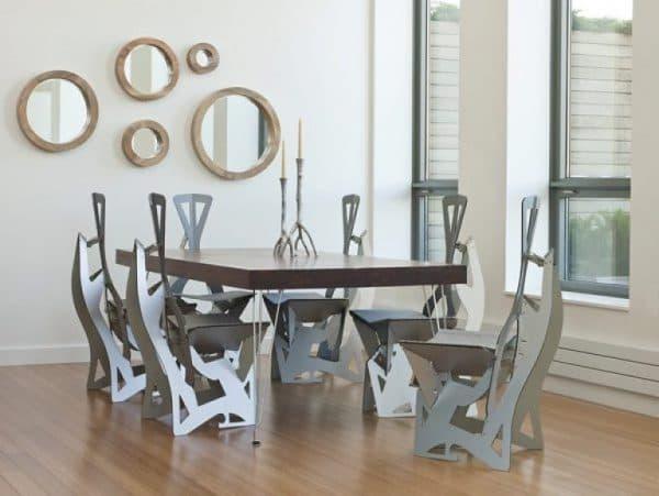 стильный стул для кухни с лазерной резкой