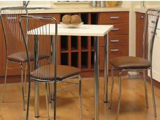 стулья и столы из хрома