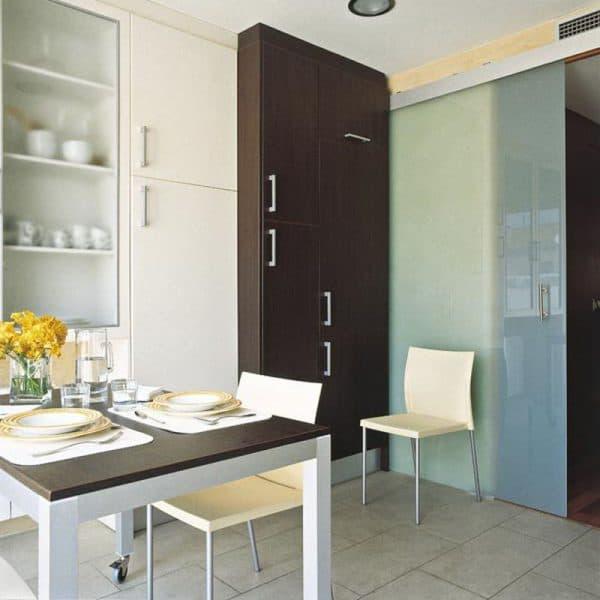 раздвижные двери на небольшую кухню