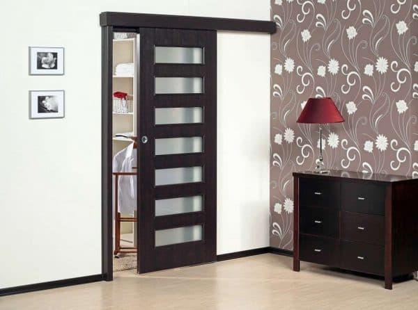 раздвижные двери на кухню по типу купе