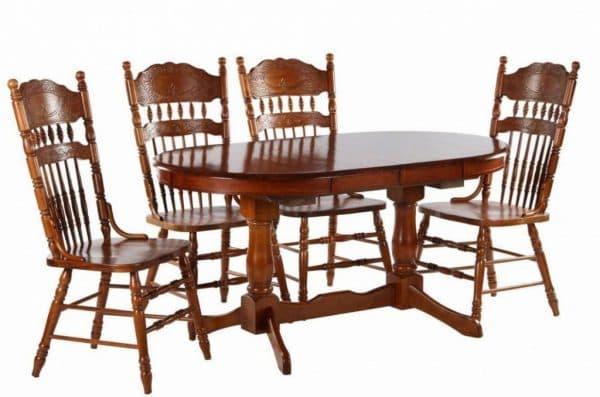 обеденный стол из массива гевеи