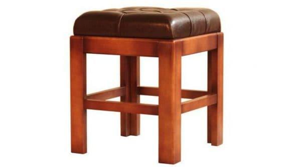 табуретка для кухни с мягким сиденьем из кожи