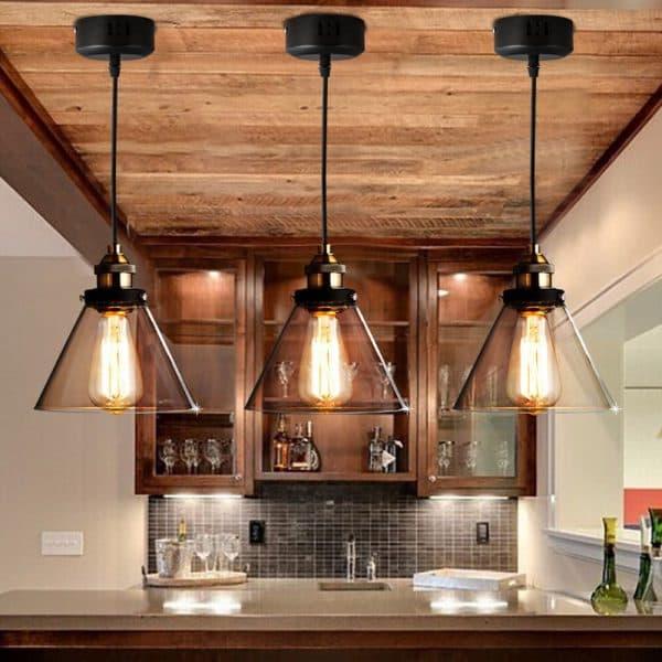 потолочная люстра на кухню в стиле кантри