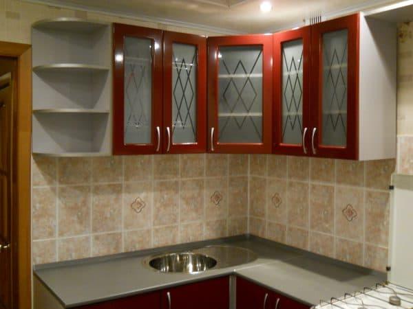 матовое стекло для кухонных фасадов