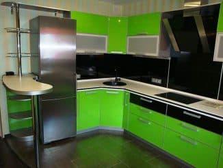 кухни с крашенными фасадами из мдф