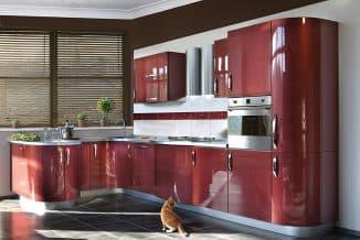 кухни с крашенными фасадами на акриловой основе