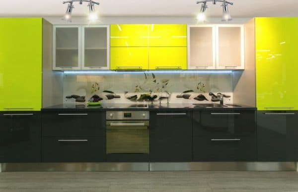 фасады для кухни из глянца Alvic LUXE Blanco