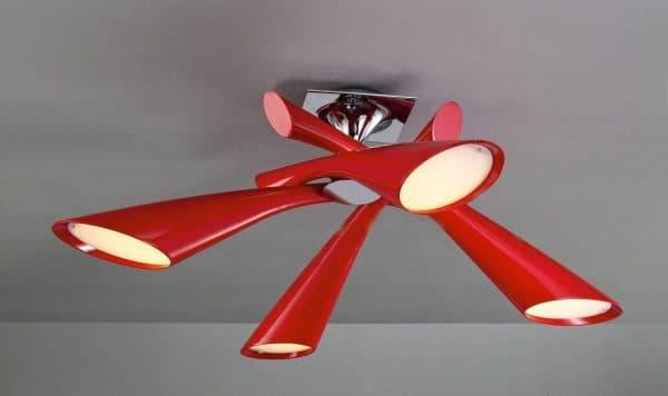 современная потолочная люстра на кухню