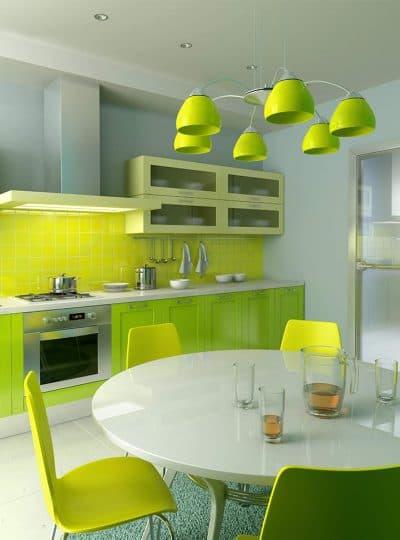 люстры на кухню зелёного цвета