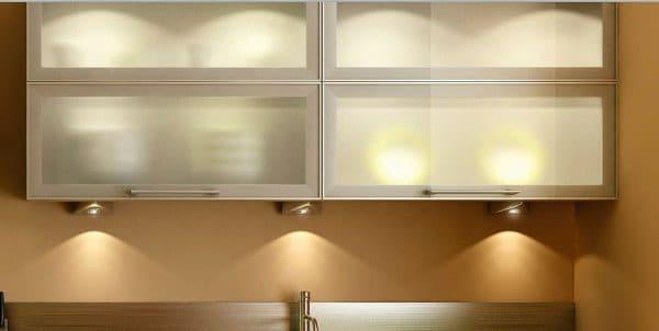 накладной светильник подсветки полок для кухни