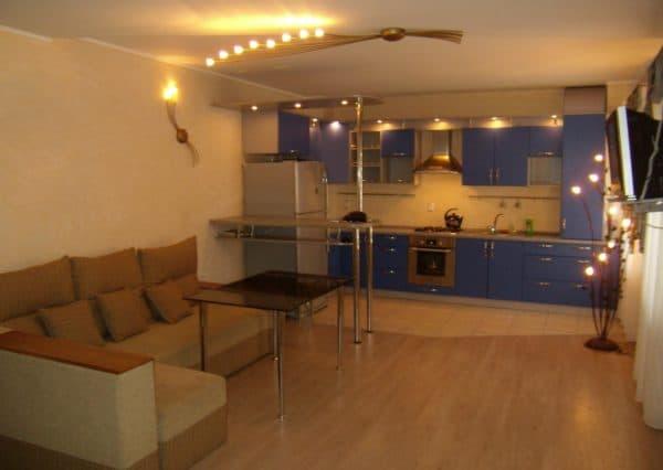 кухня совмещенная с гостиной: интерьер