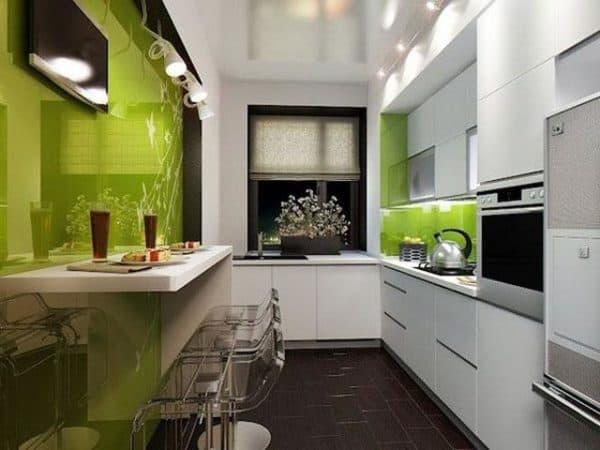 чем отделать стены на кухне: хай-тек