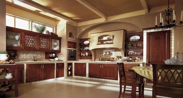 чем отделать стены кухни:прованс
