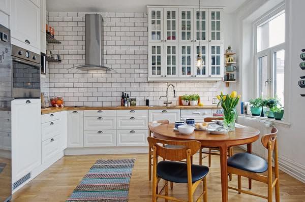 чем отделать стены кухни: скандинавский стиль