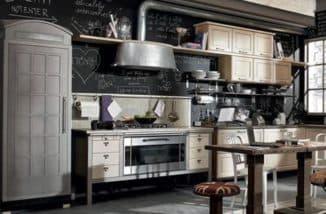 кухни в стиле лофт: метал в интерьере