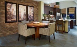 кухни в стиле лофт: стены