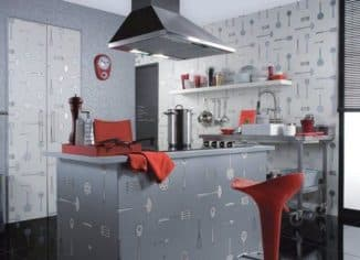 моющиеся обои для кухни