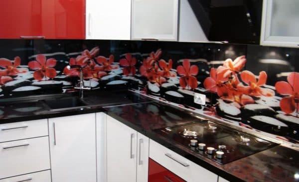 фартук для кухни: пластик