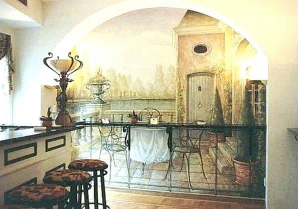 рисунки на стены на кухне