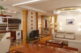 Планировка кухни гостиной: варианты расстановки мебели, правила, рекомендации