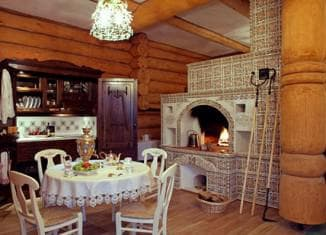 дизайн кухни в большом доме