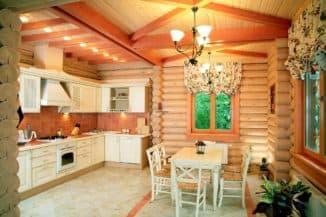 кухня в стиле шале
