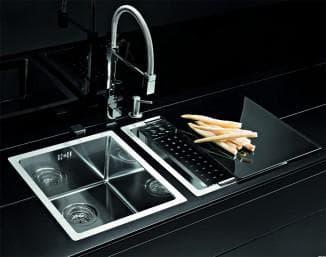 стеклянная мойка для кухни