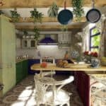 Стиль прованс: свет и тепло на кухне
