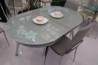 стол стеклянный раскладной