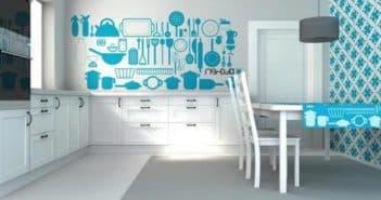 Обои для кухни в интерьере: правила комбинирования, сочетание цветов