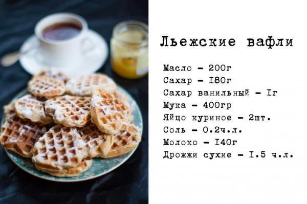 И напоследок рецепт вкусных вафель, которые можно готовить на завтрак