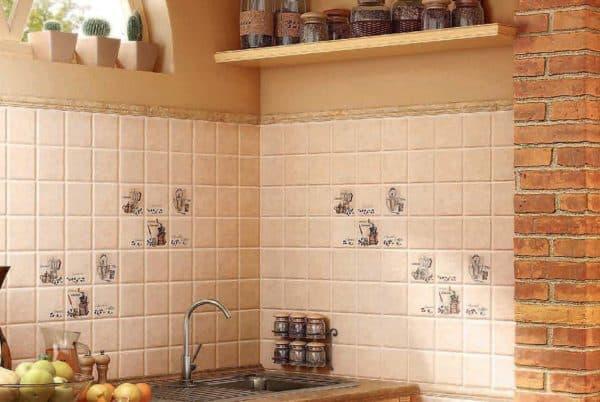 Испанская плитка на фартук на кухню