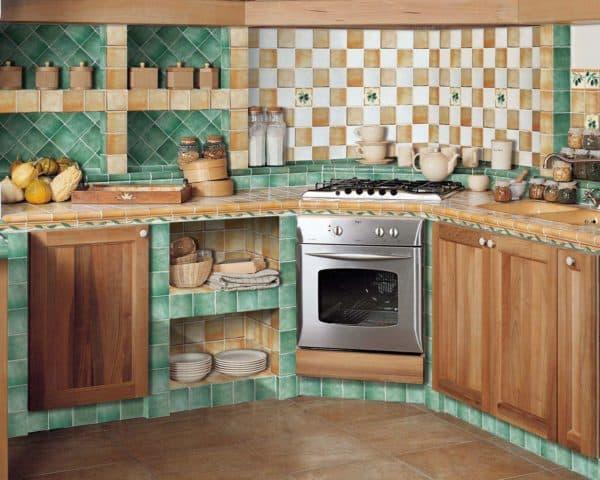 плитка 10х10 для кухни