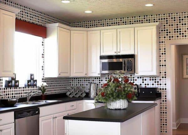 Дизайн обоев на кухне
