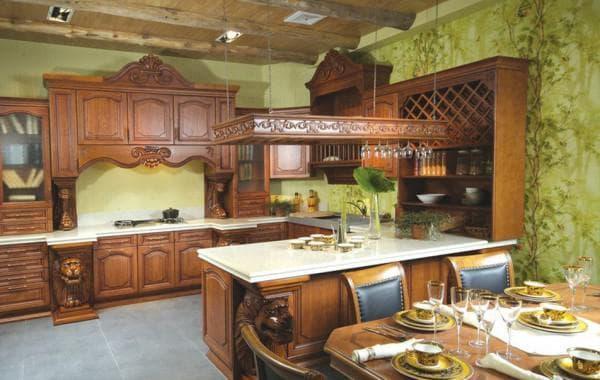 дизайн обоев на кухню