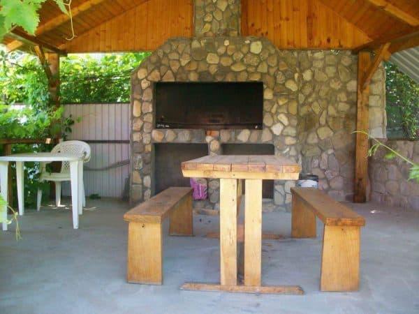 проект летней кухни с верандой