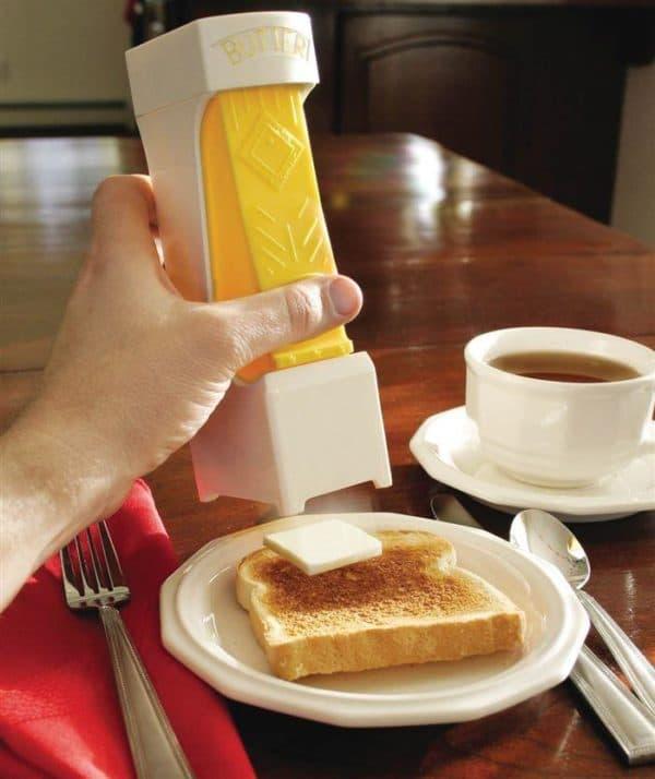 Просто нажмите и нужный кусочек масла появится на тосте.