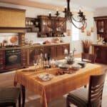 Какой цвет выбрать для кухни: сочетание коричневой классики