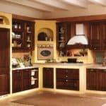Кухня в стиле кантри: интерьер с использованием дерева